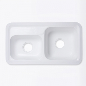 lavabo surface solide blanc